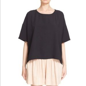 Vince short sleeve square tee black small oversize